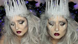 ice queen makeup tutorial diy ice crown jordan hanz youtube