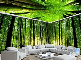 wallpaper for entire wall 3d animals green forest tree top entire living room wallpaper wall