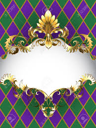 mardi gras banner festive mardi gras banner decorated with a gold frame and gold