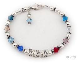 birthstone bracelets for birthstones chart with all birthstone colors