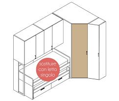 armadio angolare misure arredaclick il progetto di una cameretta di 12 mq