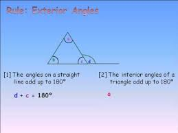 The Interior Angles Of A Triangle Always Add Up To G7 Exterior Angles Triangle Finding The Unknown Angle Youtube
