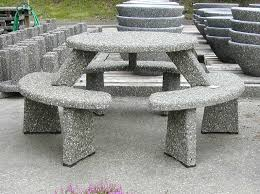 round cement picnic tables concrete tables cement picnic table ornamental stone