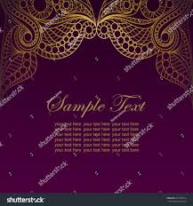 Background Of Invitation Card Invitation Card Golden Lace Ornamentvintage Gold Stock Vector