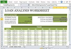 Excel Payment Calculator Template How To Create A Loan Analysis Worksheet In Excel