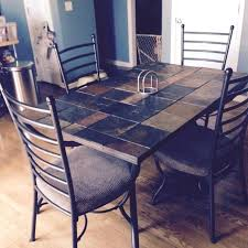 tile top dining room tables slate dining table harlowproject com
