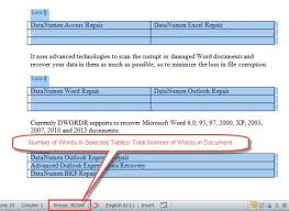 How To Count Number Of Words In Word Document 2 Methods To Exclude Table Texts From Word Count Statistics Data