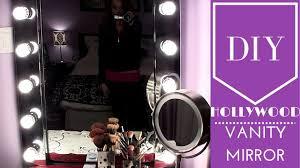 Mirror With Lights Around It Diy Hollywood Vanity Mirror Youtube