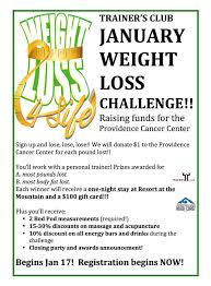 During Challenge January Weight Loss Challenge Starts Jan 17 Registration Going On