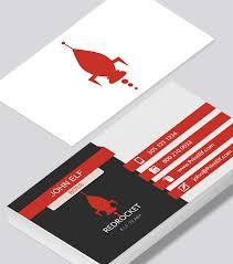 Red Business Cards Red Rocket Business Card Modern Design