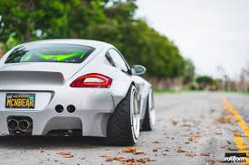 porsche widebody rear custom porsche cayman stuns with its ott widebody kit