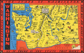 map of washington a hysterical map of the state of washington which has jim dandy