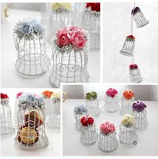 bird cage decoration 5 x small luxe white mini metal bird cage decoration simply sew