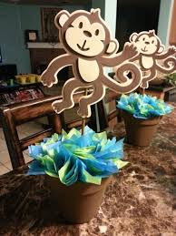 monkey centerpieces for baby shower baby shower ideas with monkey theme dtavares
