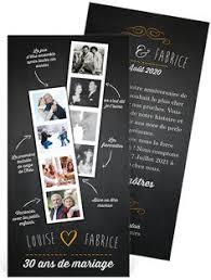 30 ans mariage invitation anniversaire de mariage pour faire la rétrospective de