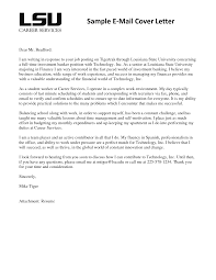 example of email cover letter image collections letter samples