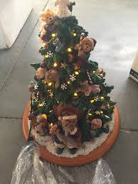 amazon com boyds bears lighted christmas tree sculpture danbury