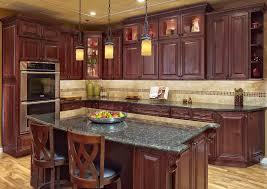 Dark Cherry Kitchen Cabinets Impressive Cherry Kitchen Cabinets Cherry Kitchen Cabinets Ideas