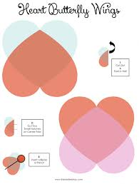 free printable craft for kids heart butterfly wings for pencils