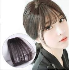 hair extensions for thinning bangs women thin neat air bangs fringe clip on in hair extensions remy