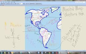 Western Michigan Map by Mental Map Of The Western Hemisphere Mrelders Com