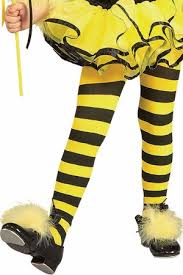 child size yellow black striped tights apple costumes
