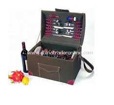 Picnic Basket Set For 4 Wholesale Willow Picnic Basket For 4 Person With Cooler Bag Buy