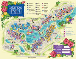 Map Of Caribbean Island by Disney U0027s Caribbean Beach Resort Map Wdwinfo Com