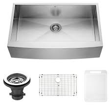 Buy Stainless Steel Kitchen Sink by Vigo 36 Inch Farmhouse Apron Single Bowl 16 Gauge Stainless Steel