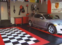 affordable simple design the garage that has cream concrete attractive design the garage can decor with pixels floor that add beauty
