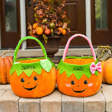 personalized trick or treat bags the personalized trick or treat bag hammacher schlemmer