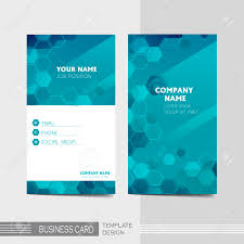 vector blue and technology modern business card template royalty