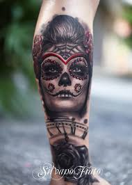fantastic sugar skull with clock cover up best