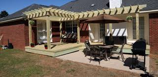 repairing a wood deck and building a pergola shade arbor today u0027s