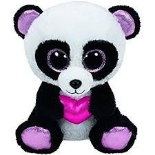 ty beanie boo u0027 ty36174 cutie pie panda plush 15 cm amazon