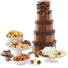 Gift Towers Amazon Com Broadway Basketeers Gift Tower Of Sweets Gift Basket
