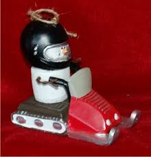 s mores snowmobile personalized ornaments by