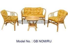 Wicker Indoor Sofa Antique Natural Rattan Wicker Indoor Sofa Set With Coffee Table