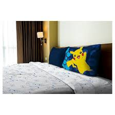 Pikachu Comforter Set Pokémon Pikachu White U0026 Blue Sheet Set Full 4pc Target