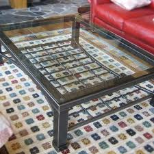 Custom Coffee Tables by Custom Made Iron U0026 Glass Coffee Table By Desiron Custom Metal