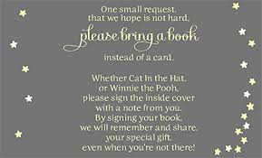 instead of a card bring a book baby shower twinkle baby shower invitations gender