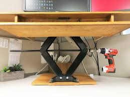 small electric standing desk diy height adjustable standing desk youtube