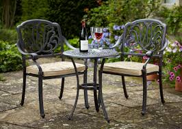 Black Iron Patio Chairs by Dining Room Marvelous Outdoor Bistro Set Create Enjoyable Outdoor