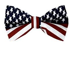 fbt flag white blue american flag self tie bow tie at