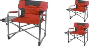 Folding Directors Chair With Side Table Walmart Ozark Xxl Director Chair Only 39 Features Foldable Side