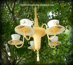 Tea Cup Chandelier 8 Diy Shabby Chic Outdoor Chandeliers Project Simple Life