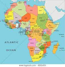 africa map color political map africa vector photo bigstock