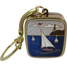 Music Box Keychain Sankyo Music Box Key Chain Keychain With Sailboats Works And Plays