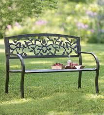 Garden Treasures Patio Bench Bar Furniture Iron Patio Bench Outdoor Benches Patio Chairs The