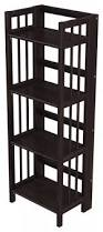 Folding Bookshelves - modern wall shelf espresso color design bookcase home decoration